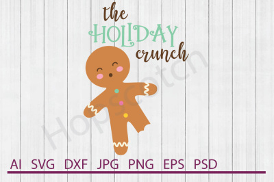 Gingerbread Man SVG, Gingerbread Man DXF, Cuttable File