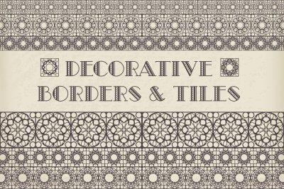 50 Decorative Borders & Tiles