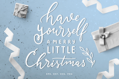 Merry Christmas lettering digital cut file (svg, dxf, png, eps)