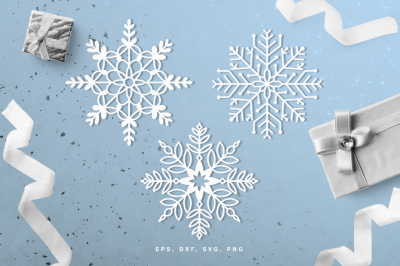 Snowflakes digital cut file (svg, dxf, png, eps)