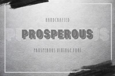 Prosperous  Shadow Font - vintage typeface.