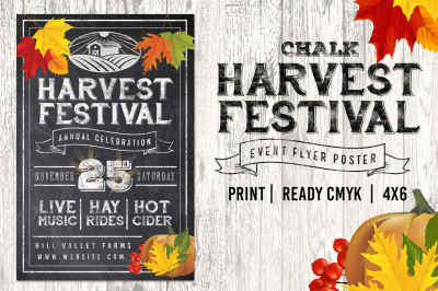 Chalk Harvest Festival Fall Flyer