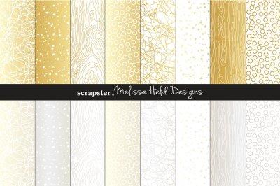 Silver & Gold Natural Textures