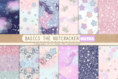 THE NUTCRACKER BASIC digital papers
