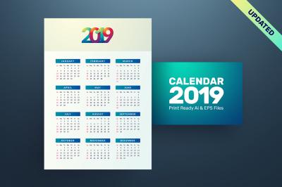 2019 Simple Calendar