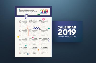 Geometric Calendar 2019