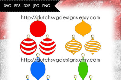 12 Christmas ornaments cutting files, christmas svg, christmas bulbs