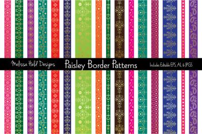 Gold Paisley Border Patterns
