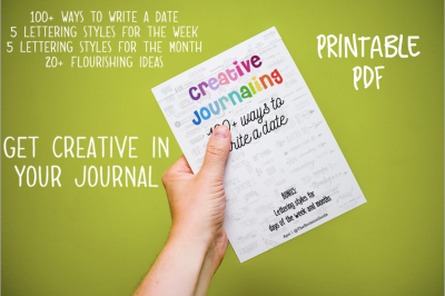 CREATIVE JOURNALING : dates - Printable Workbook