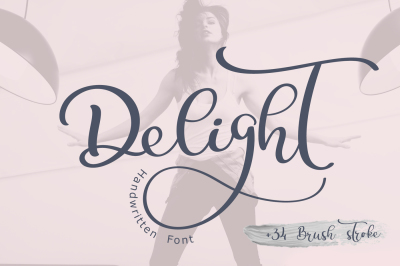 Calligraphy Wedding Decor Font Delight