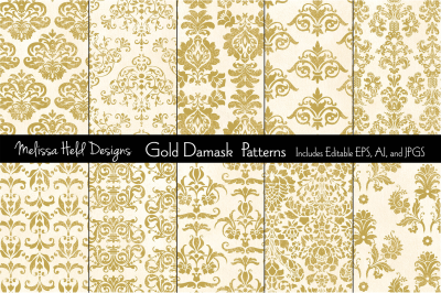 Gold Damask Patterns