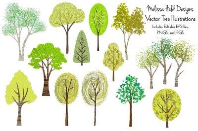 Vector Tree Illustrations