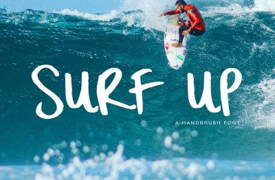 Surf Up - A Handbrush Font