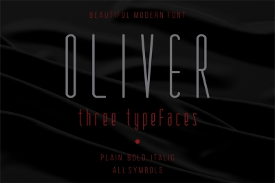 Oliver - modern font - three versions