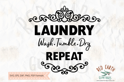 Laundry wash tumble dry repeat decal SVG,PNG,EPS,DXF, PDF formats