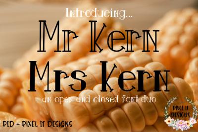 Mr Kern Mrs Kern An Open Closed Font Duo