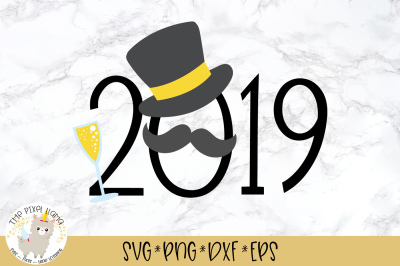 2019 Mustache SVG Cut File