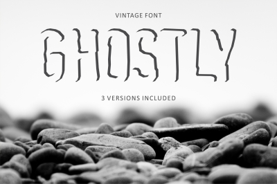 Ghostly Shadow display font - 3 versions