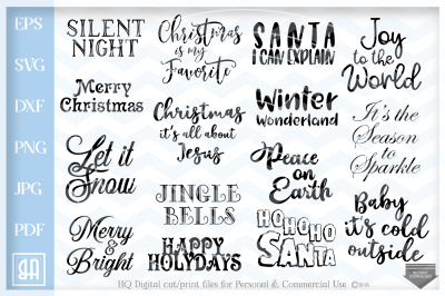 Christmas Sayings Bundle SVG, Christmas Sayings svg, Christmas pack
