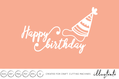 Happy Birthday SVG Cut file