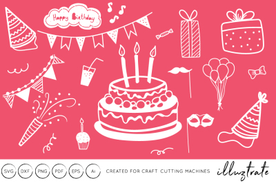 Birthday SVG Cut Files - Clipart - Graphics