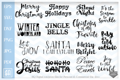 Christmas Sayings Bundle SVG, Christmas Sayings svg, Christmas quotes
