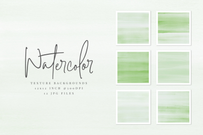 Green Watercolor Texture Backgrounds