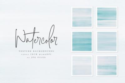 Light Blue Watercolor Texture Backgrounds