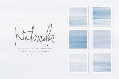 Blue Watercolor Texture Backgrounds