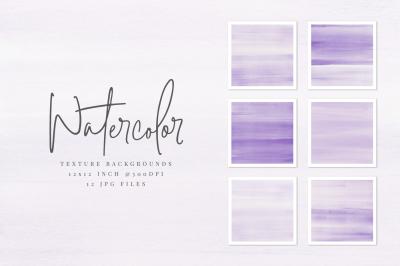 Purple Violet Watercolor Texture Backgrounds