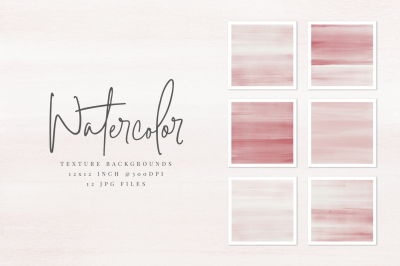 Blush Red Watercolor Texture Backgrounds