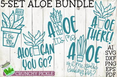 Aloe Bundle 5-piece SVG set