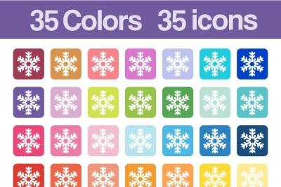Christmas snowflake printable icons