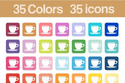 Coffee cup printable icons