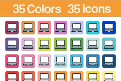 Personal Computer printable icons