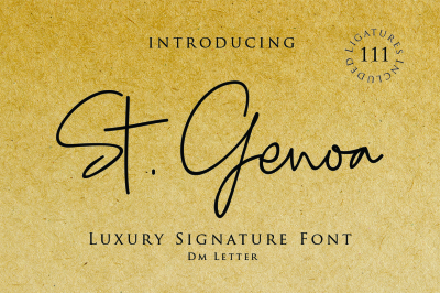 St. Genoa - Luxury Signature Font