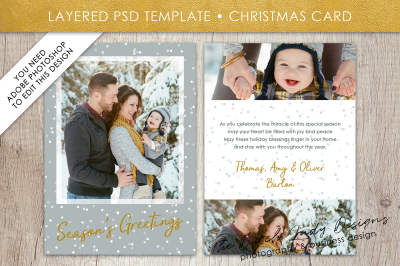 PSD Christmas Card Template #2