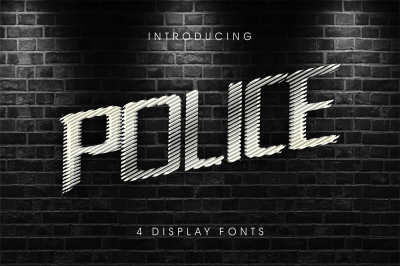 Police Line Do Not Cross 4 display fonts