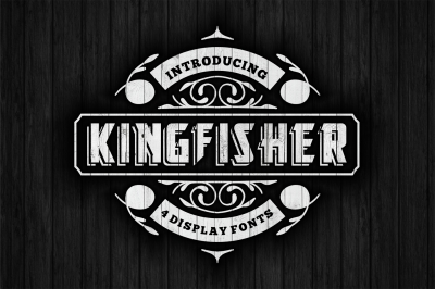 KingFisher Display font in 4 versions