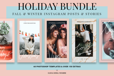 Holiday ANIMATED Instagram Bundle - Christmas Story & Post Templates