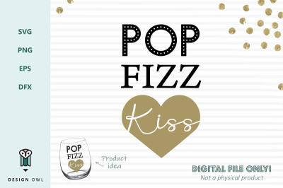 Pop fizz kiss - SVG file