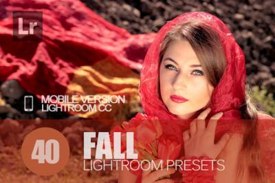 40 Fall Lightroom Mobile bundle (Presets for Lightroom Mobile CC)