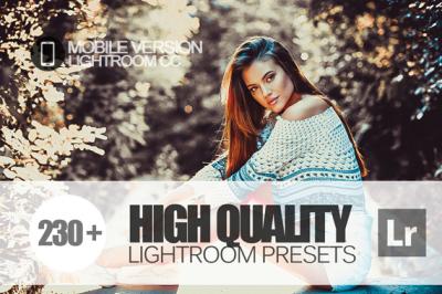 230+ High Quality Lightroom Mobile bundle (Presets for Lightroom Mobil