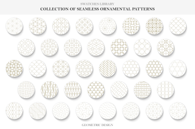 Vector seamless ornamental patterns
