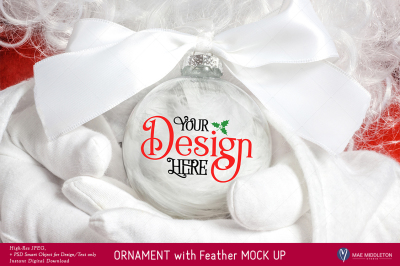 Christmas Mock up - Ornament with Feather