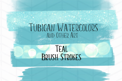12 Brush Strokes - 6 Teal and 6 Rose / Blush Pink
