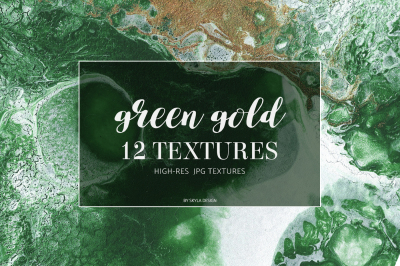 Green gold texture background digital paper