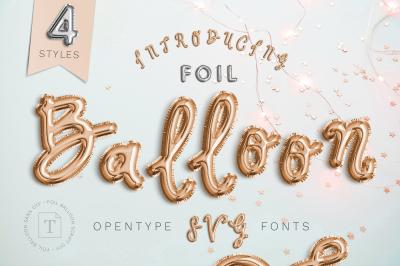FoilBalloon - Color bitmap font