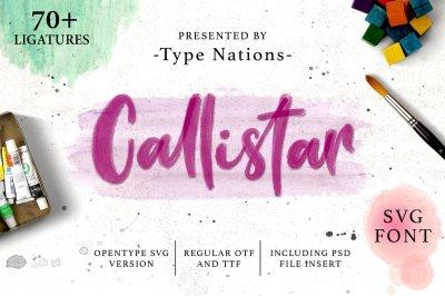 Callistar SVG & Regular Font