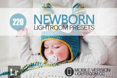 220 Newborn Lightroom Mobile bundle (Presets for Lightroom Mobile CC)